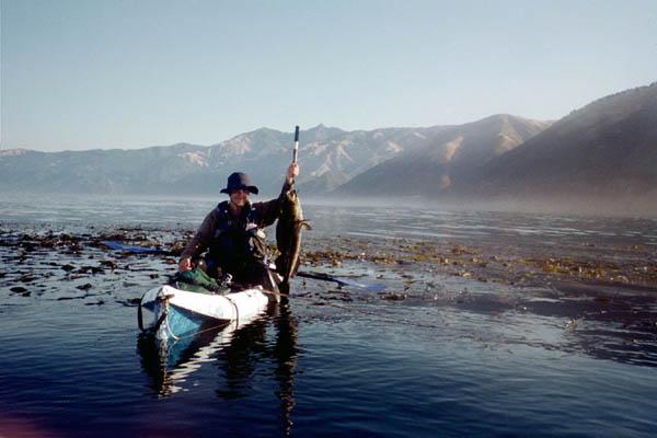 Kayak fishing adventure kayak fishing the wild coast of for Big sur fishing